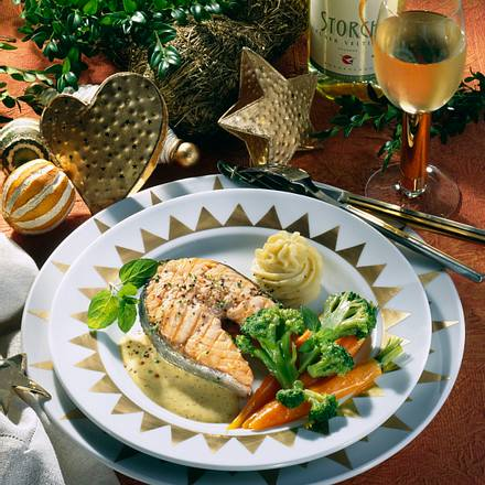 Gebratenes Lachs-Steak Rezept