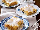 Gedeckter Apfel-Blechkuchen Rezept