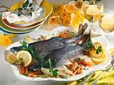 Gedünstete Lachsforellen mit Fenchel-Möhren-Gemüse Rezept
