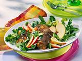 Geflügelleber-Salat Rezept
