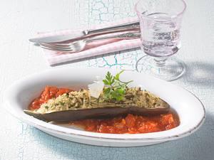Gefüllte Aubergine (Diät) Rezept