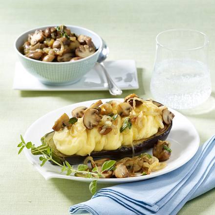 Gefüllte Auberginen mit Kartoffelpüree Rezept