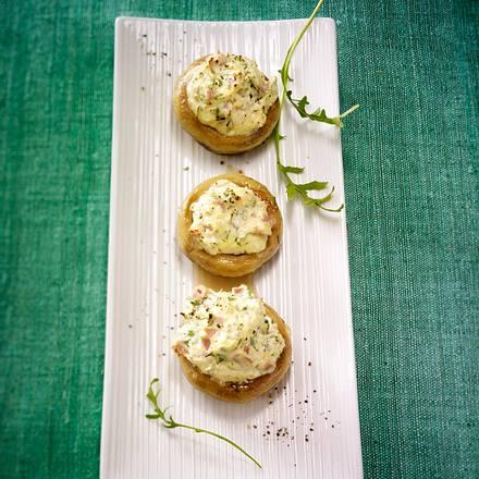Gefüllte Champignons mit Frischkäse Rezept