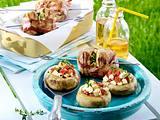 Gefüllte Champignons und Speck-Champignon-Spieße vom Grill Rezept