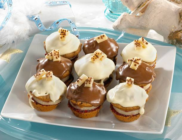 Gefüllte Domino-Muffins (große Form) Rezept
