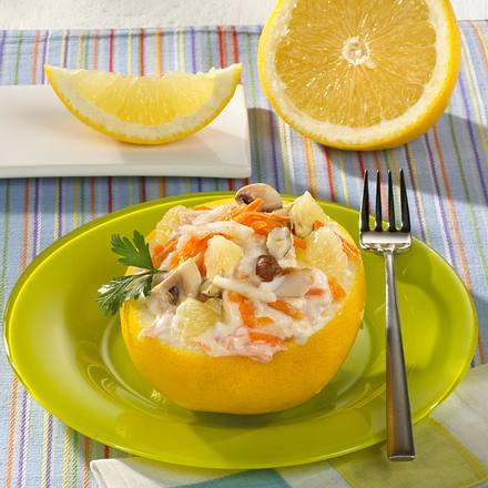 Gefüllte Grapefruit mit Farmersalat Rezept