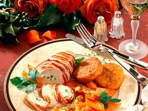 Gefüllte Hähnchenbrust mit Möhrengemüse Rezept