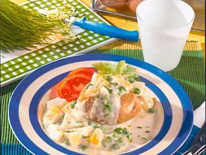 Gefüllte Kartoffel mit Eierragout Rezept