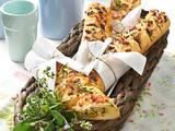 Gefüllte Kräuter-Baguette Rezept