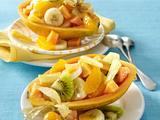 Gefüllte Papaya mit exotischem Fruchtsalat Rezept