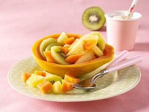 Gefüllte Papaya mit Joghurtdip Rezept