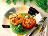 Gefüllte Paprika in Broccoli-Soße Rezept
