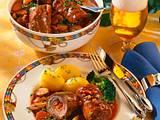 Gefüllte Roulade mit Speck und Zwiebeln Rezept