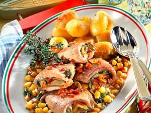 Gefüllte Schweineschnitzel mit Maissoße Rezept