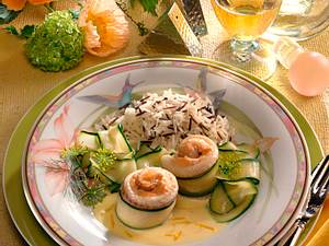 Gefüllte Seezunge mit Zucchini Rezept