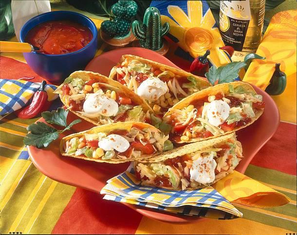 Gefüllte Taco-Schalen Rezept