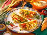Gefüllte Tacos mit Avocado-Dip Rezept