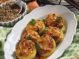 Gefüllte Zwiebeln mit Grünkern-Curry Rezept