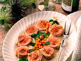 Gefülltes Schweinefilet in Spinat-Meerrettichsoße Rezept