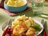 Gefülltes Sellerieschnitzel mit Ciabattakruste Rezept