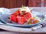 Gegrillte Wassermelone mit Bacon Rezept