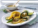 Gegrillte Zucchini mit Dill-Vinaigrette Rezept