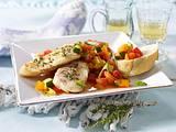 Gegrilltes Fischfilet mit feinem Gemüse-Salat Rezept