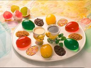 Gelee-Eier mit Soßen Rezept