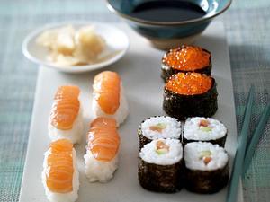 Gemischte Sushi-Platte Rezept