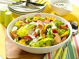 Gemischter Salat mit Putenbrust Rezept
