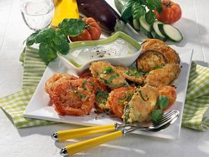 Gemischtes Gemüse in Parmesan-Eihülle Rezept