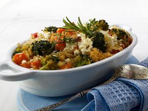 Gemüse-Bulgur-Auflauf mit Fetakäse Rezept