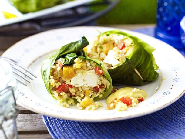 Gemüse-Bulgur-Päckchen mit Feta Rezept