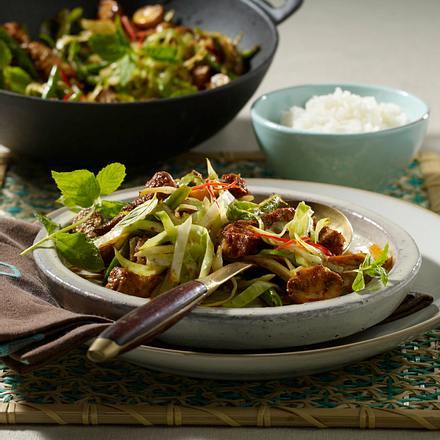 Gemüse-Curry mit Schweinefleisch Rezept