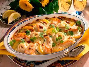 Gemüse-Fischauflauf Rezept