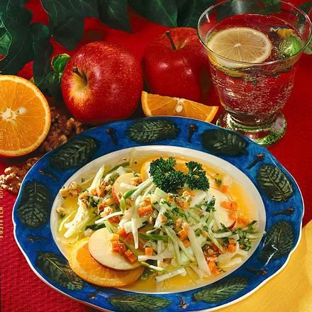 Gemüse-Fruchtsalat Rezept
