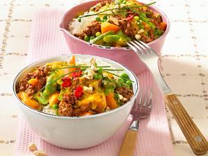 Gemüse-Hack-Curry zu Basmatireis Rezept