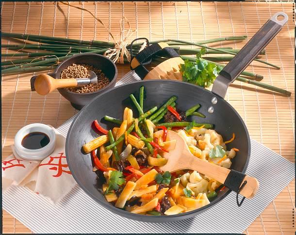 Gemüse im Wok Rezept