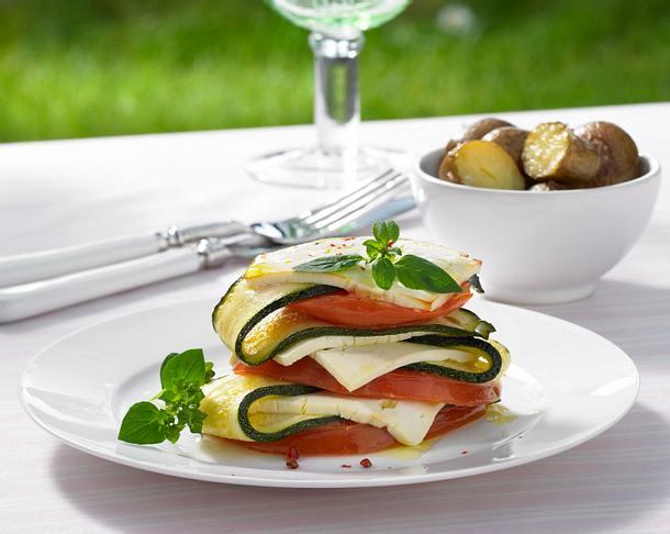 Gemüse-Käse-Türmchen Rezept