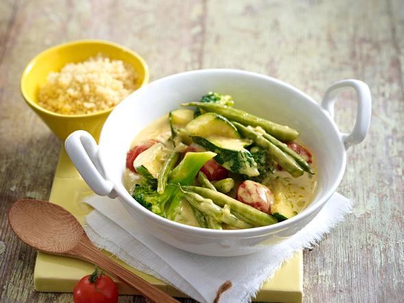 Gemüse-Kokos-Curry zu Couscous Rezept