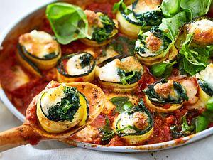 Gemüse-Lasagne-Röllchen Rezept