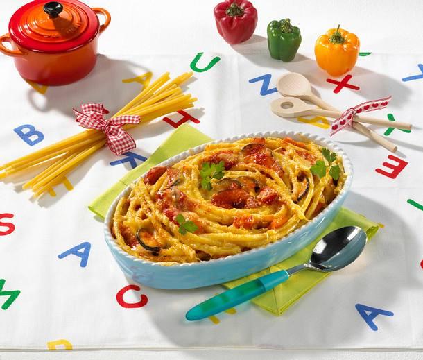Gemüse-Makkaroni-Lasagne Rezept