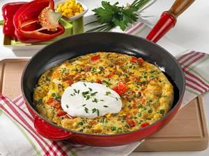 Gemüse-Pfannkuchen mit Schmand Rezept