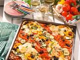 Gemüse-Pfannkuchen vom Blech Rezept