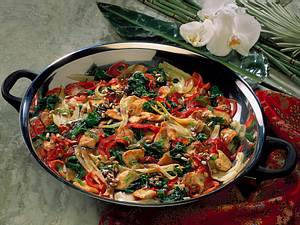 Gemüse-Putenpfanne aus dem Wok Rezept