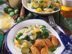 Gemüse-Ragout mit Hirse-Kroketten Rezept