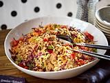 Gemüse-Taboulé mit Ingwer-Erdnuss-Dressing Rezept