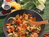 Gemüse und Schweinefleisch aus dem Wok Rezept