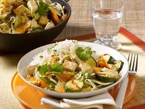 Gemüse und Tofu aus dem Wok Rezept