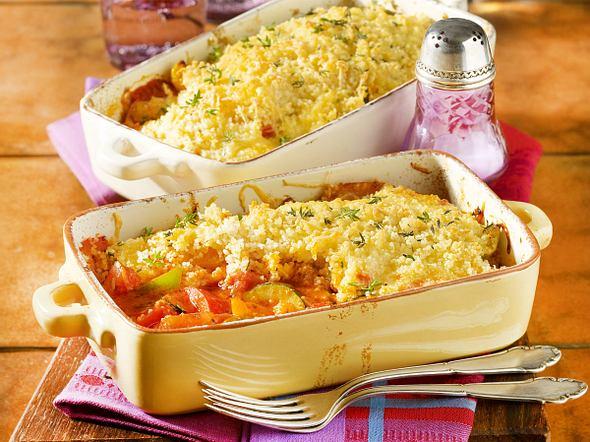 Gemüseauflauf mit Couscous-Haube Rezept
